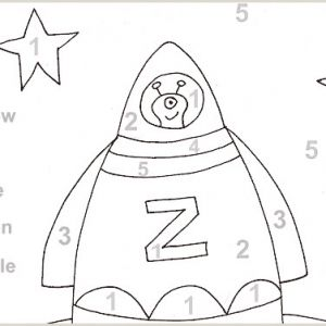 Color by Number Coloring Pages for Preschoolers