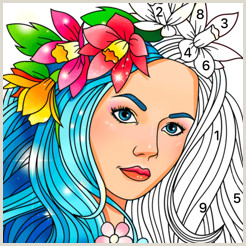 Color by Number Coloring Pages Games