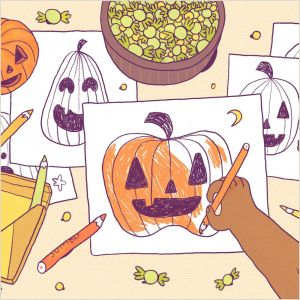 Color by Number Coloring Pages Halloween