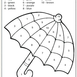 Color by Number Coloring Pages Pdf