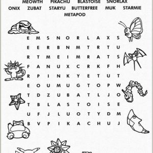 Color by Number Coloring Pages Pokemon