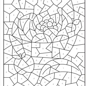 Color by Number Coloring Pages to Print