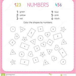 Color by Number Coloring Worksheets
