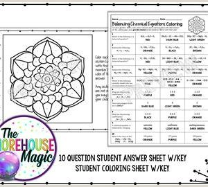 Color by Number Counting atoms Worksheet Answers