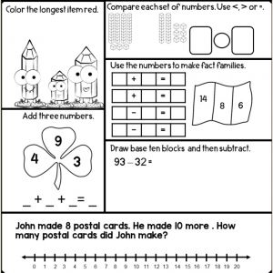 Color by Number English Worksheets