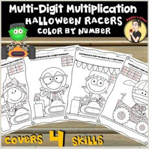 Color by Number Grid Worksheets