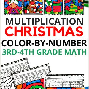 Color by Number Math Worksheets 3rd Grade