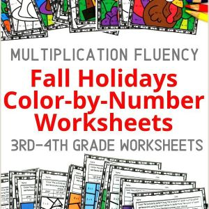 Color by Number Math Worksheets 3rd Grade