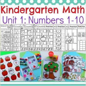 Color by Number Math Worksheets for Kindergarten