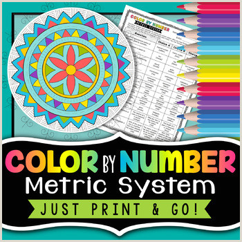 Color By Number Metric System Worksheet Answers