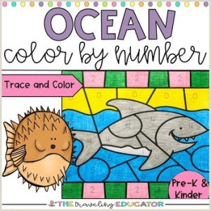 Color by Number Ocean Worksheets