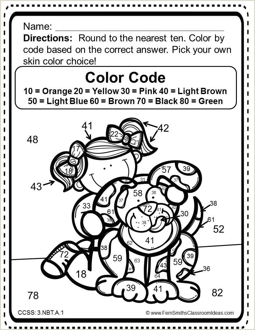 Color by Number Rounding Worksheets