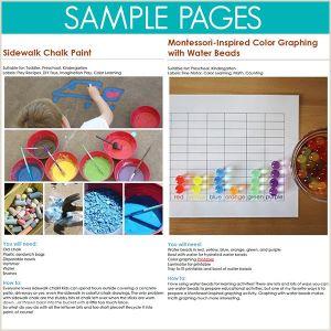 Color by Number Sheet for Kindergarten