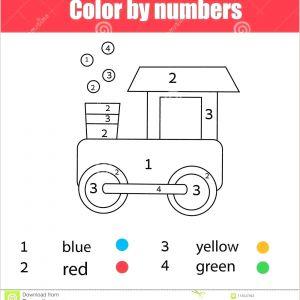 Color by Number Transportation Worksheets