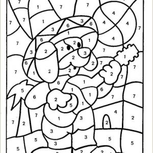 Color by Number Valentine Coloring Pages