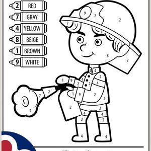 Color by Number Words Worksheets