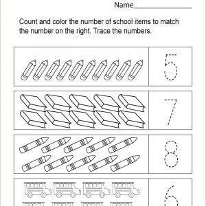 Color by Number Worksheet Adding