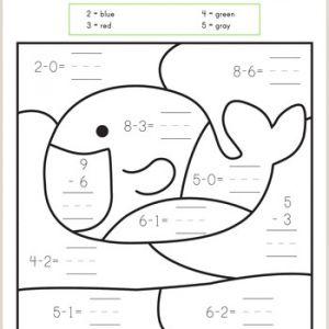 Color by Number Worksheets Addition