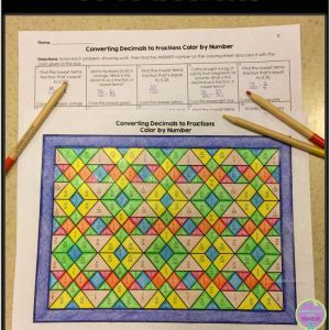 Color by Number Worksheets Answers