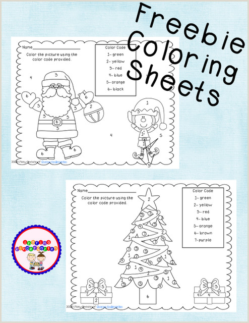 Color By Number Worksheets Christmas