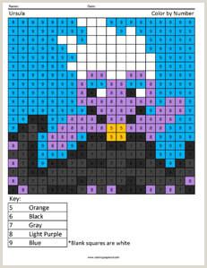Color by Number Worksheets Disney