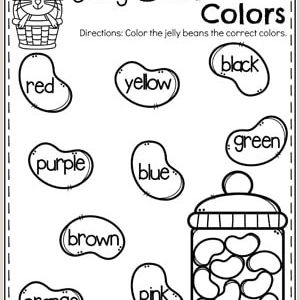 Color by Number Worksheets Easter