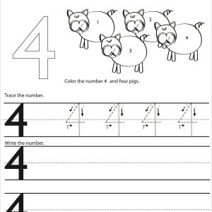 Color by Number Worksheets Easy