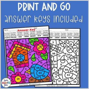 Color by Number Worksheets for 2nd Graders