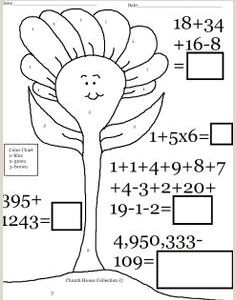 Color by Number Worksheets for Church