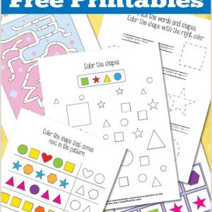 Color by Number Worksheets for Elementary