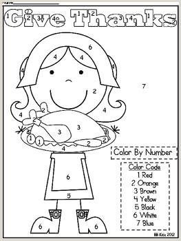 Color By Number Worksheets For Kindergarten Fall