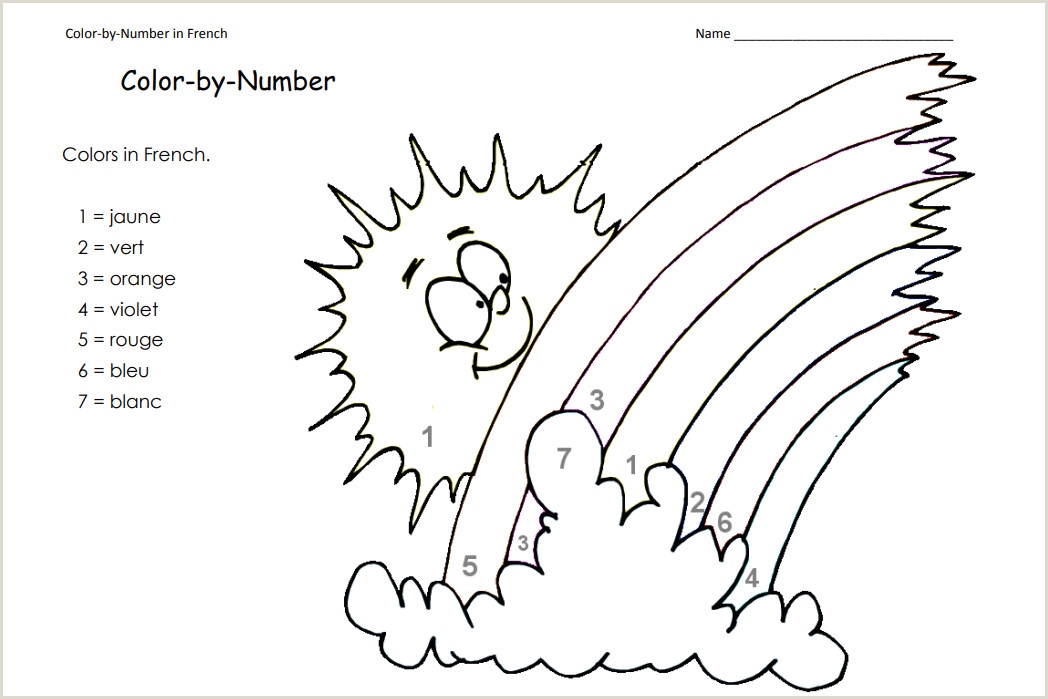 Color by Number Worksheets for Kindergarten Free