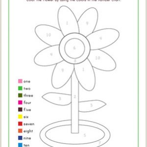 Color by Number Worksheets for Kindergarten