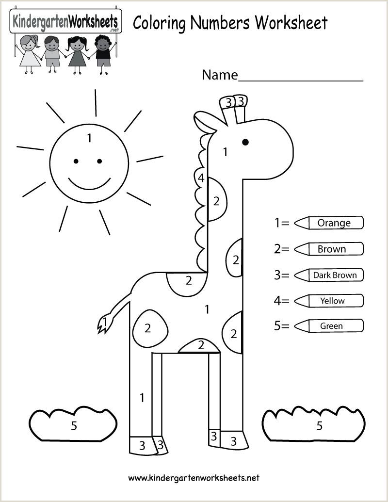 Color by Number Worksheets for Kindergarten Pdf