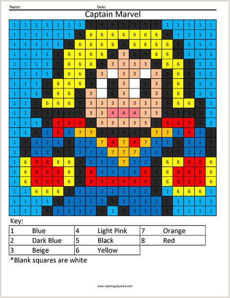 Color by Number Worksheets for Pre-k