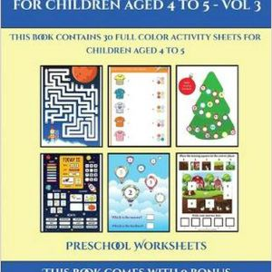 Color by Number Worksheets for Pre-k