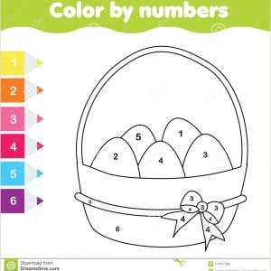 Color by Number Worksheets for Preschool Free