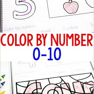 Color by Number Worksheets for Preschool