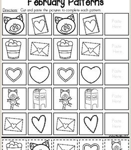 Color by Number Worksheets Hearts