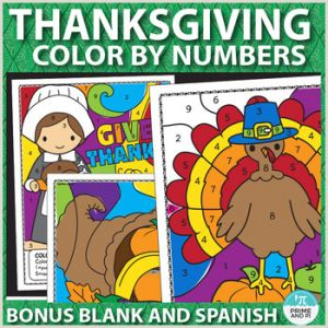 Color by Number Worksheets In Spanish