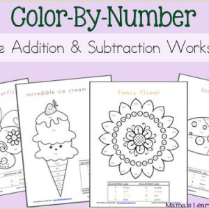 Color by Number Worksheets Kindergarten