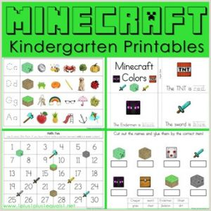 Color by Number Worksheets Minecraft