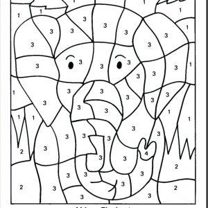 Color by Number Worksheets Multiplication