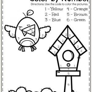 Color by Number Worksheets Pdf