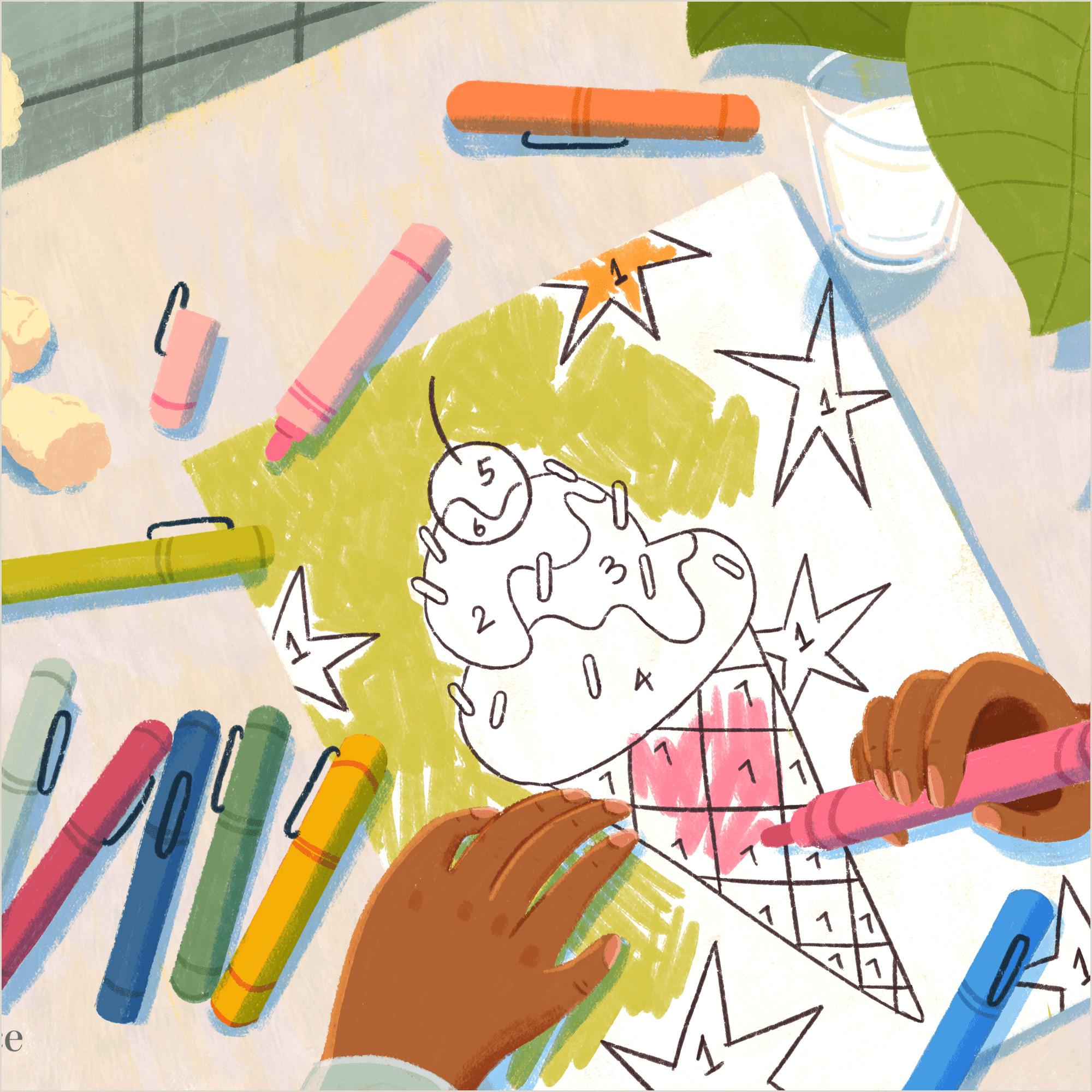 Color By Number Worksheets Preschool
