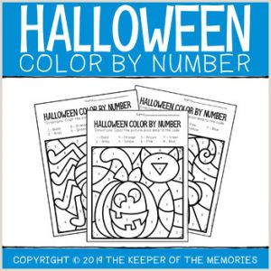 Color by Number Worksheets Spring