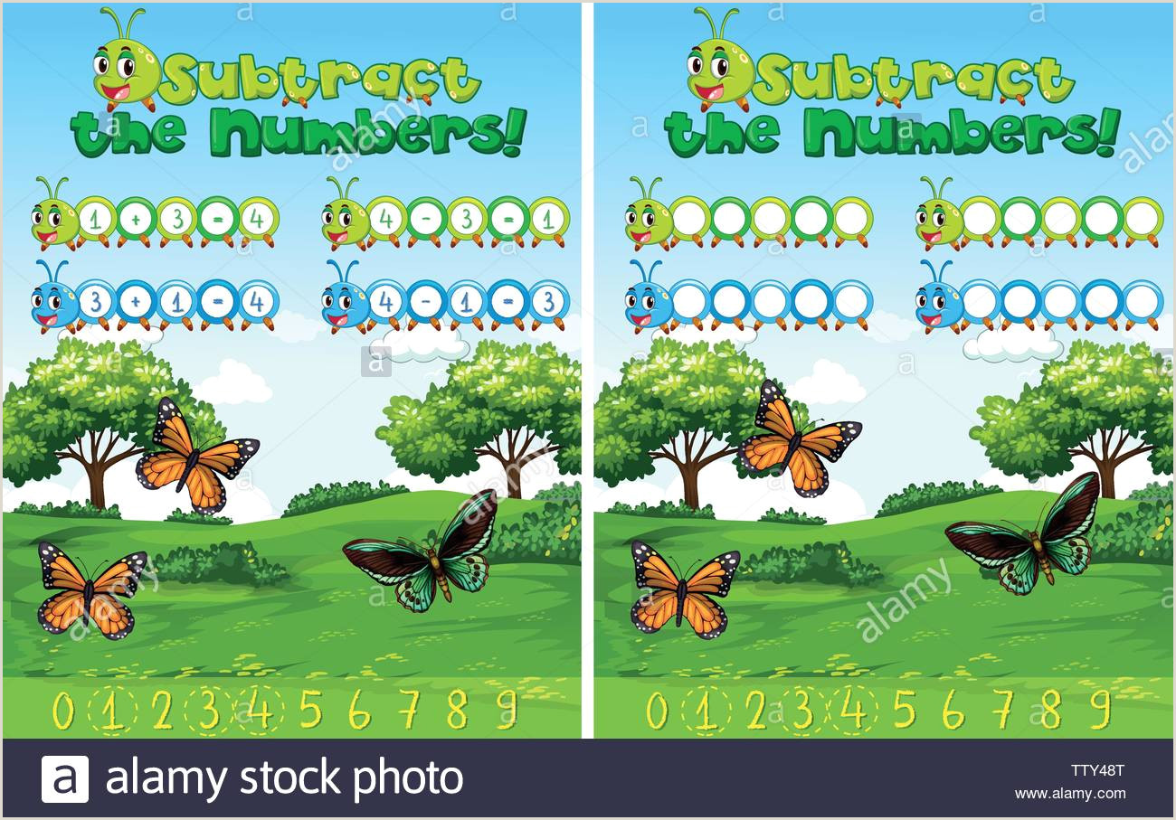 Color By Number Worksheets Subtraction