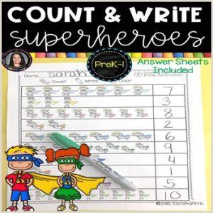 Color by Number Worksheets Superheroes