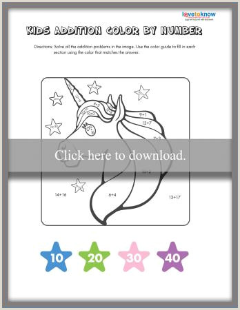 Color By Number Worksheets Winter