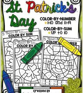 Color by Number Worksheets with Addition